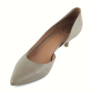 Vince Camuto Nyland Taupe d'Orsay Kitten Heels 10